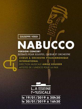 Nabucco de Verdi   19 et 20 Janvier 2019